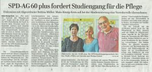 SPD AG60plus fordert Studiengang für die Pflege
